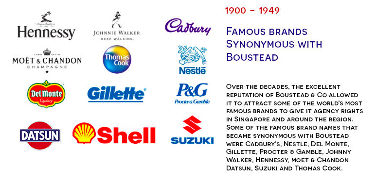 The famous brands for Boustead & Co