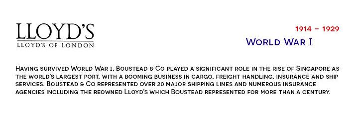 Boustead & Co after world war 1