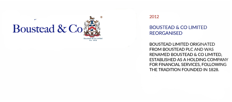 Boustead & Co Limited reorganized
