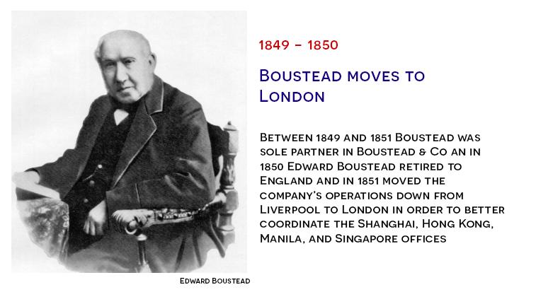 Edward Boustead moves to London